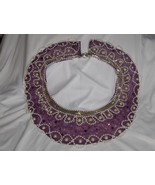 Handmade Purple Pearl and Crystal Collar - $22.00