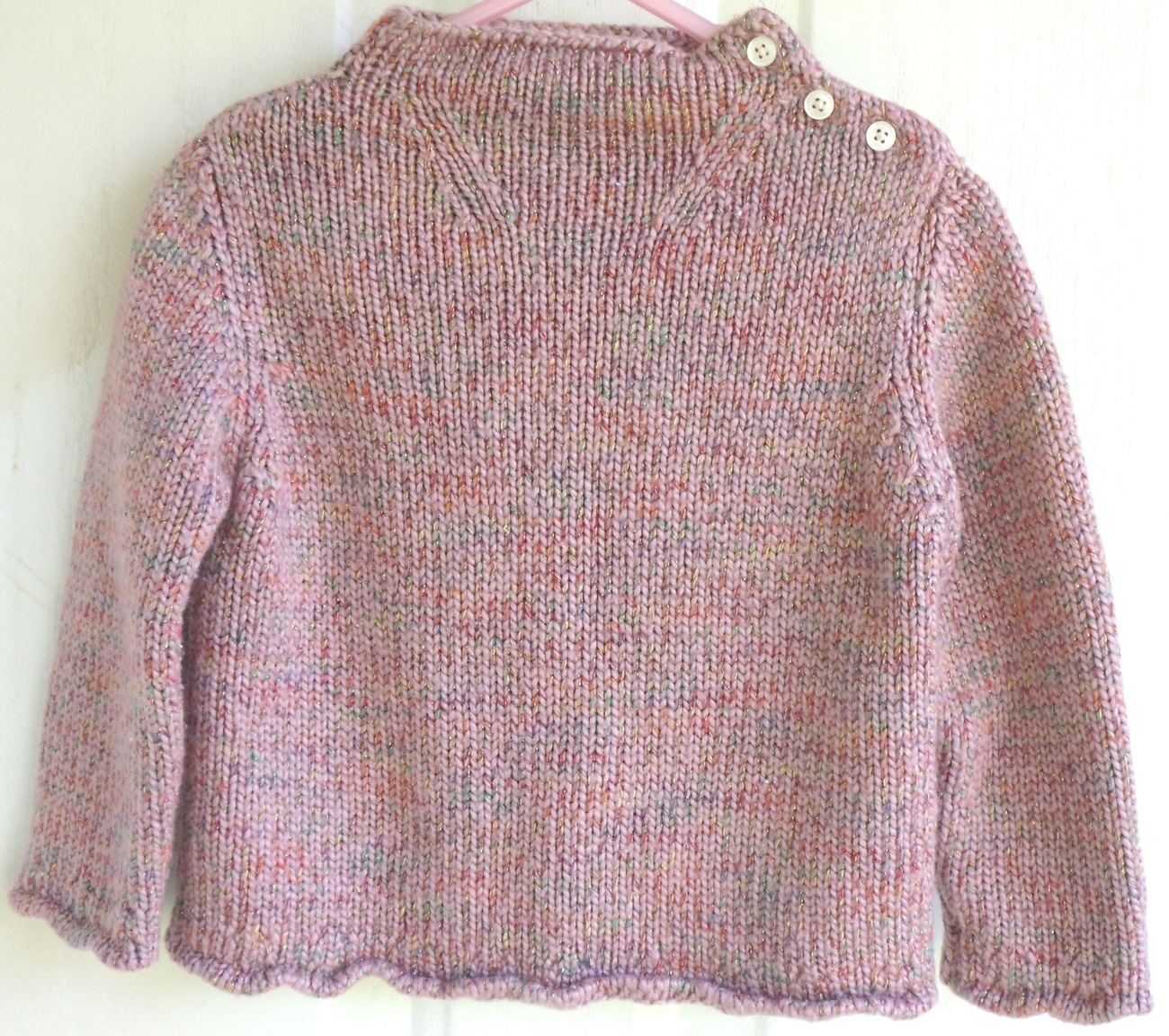 GAP Rose Pink Acrylic Sweater Infant Girls 18   24 Months