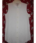 Express Tricot Thermal Tunic Shirt White Sz Medium - $7.00
