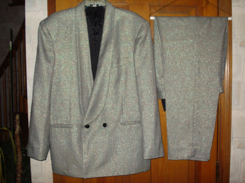 "MEN's One of a Kind ""FANCY""  Double Breasted Suit, Great for Parties, size L"