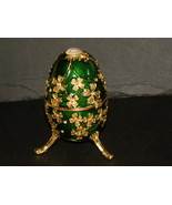 Trinket Box Versailles Green Gold Rhinestones E... - $25.00