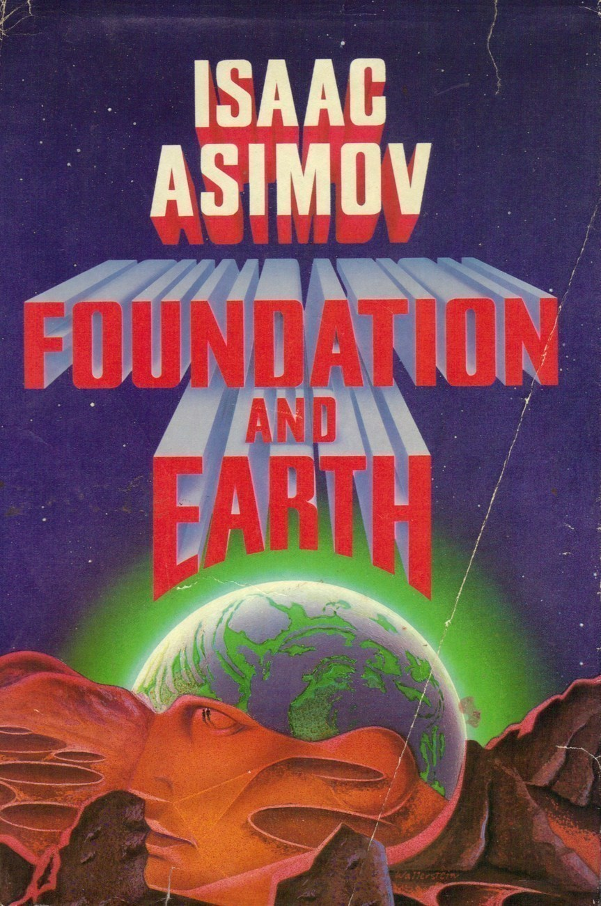 "Vintage Book. ""Foundation And Earth"". Isaac Asimov. 356 pages."