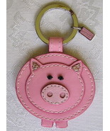 NEW COACH LEATHER PINK PIG KEY CHAIN FOB CHARM 92836 - $29.64