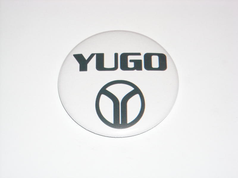 YUGO Large Button yugoslavia car emblem Zastava Koral