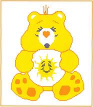 Funshine Bear Crochet Graph Afghan Pattern - $4.00