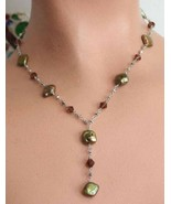 Fabulous Boho Iridescent Pearl & Cut Glass Silv... - $24.95