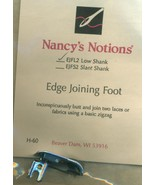 Nancys Notions Edge Joining Foot - $7.99