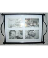 Bella Villa 4 Photo Glass Topped Tray New in Box - $14.99