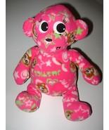 Justice Plush Microbead Fleece Pink Monkey Stuf... - $18.88