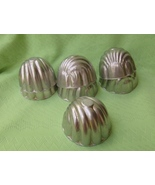 Mini Individual Shell Jello Molds Mid Century Aluminum  - $6.99