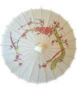 Cherry Blossoms on White Paper Umbrellas - £16.01 GBP