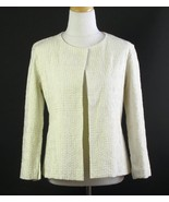 NWT EILEEN FISHER Ivory Cotton Squares Jacket S... - $89.00