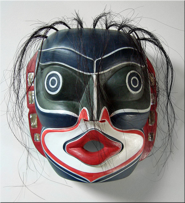 Native American Tribe Kwakiutl http://www.bonanza.com/listings/REPRODUCTION-Kwakiutl-LAUGHING-MASK-NW-Coast-Native-American-Indian-Tribal/43292993