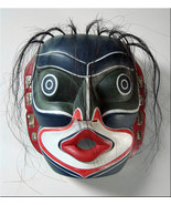 REPRODUCTION Kwakiutl LAUGHING MASK/NW Coast Native American Indian, Tribal - $70.00