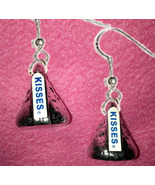 Funky Chocolate KISS EARRINGS-Realistic Candy K... - $12.97