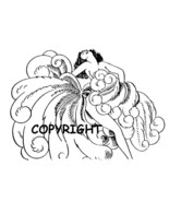 LAS VEGAS SHOWGIRL DANCER NEW mounted rubber stamp - $6.50