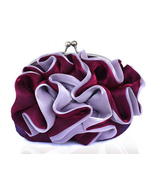 Romantic Ruffles Purple Burgundy Clutch Bag. Sh... - $70.90