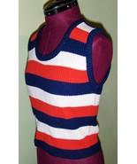 Funky 70's Vintage Woman's Sweater Vest Boho In... - $6.95