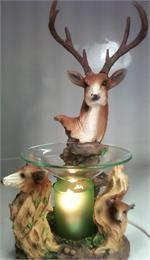 Deer Polyresin Electric Oil or Tart Warmer
