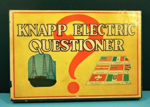 Buy electic games - Vintage 1930\'s Knapp Electric Questioner Game