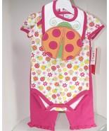 Baby Togs Ladybug Onesie Pant Bib Set 3-6 Months - $16.99