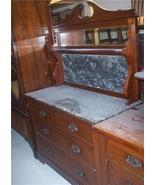 Walnut Black Marble Top Washstand/Dresser - $599.00