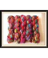 Recycled sari silk yarn crochet knitting thread... - $115.19
