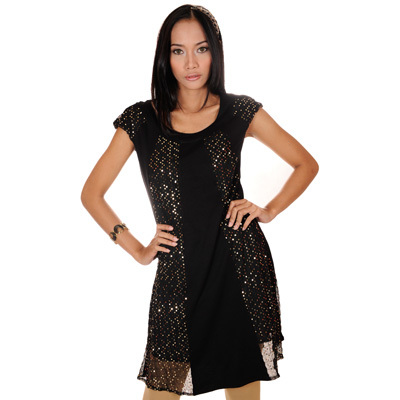 Sophistix - Melissa Black with Cap Sleeve Cocktail Dress :Sizes S M L XL