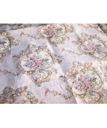 1 1/3 YDTan Rose Print Fabric/Upholstery Fabric... - $20.00