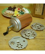 Mirro Copper Aluminum Crank Dial A Cookie Press 3 Plates 12 Designs Vintage 1969