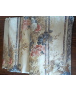Floral Drapes JC Penney 11935 Cream Blue Pink 24 x 62 Lot of 4 - $49.99