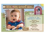 Buy Announcements - 15 Barnyard Farm Friends Photo Birthday Party Invitations