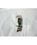 Alpaca Mexico Silver Abalone Bird PARROT Pin - $12.99