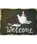 Border Collie Dog Custom Painted Welcome Sign P... - $31.95