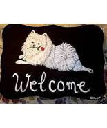 Pomeranian Dog Custom Painted Welcome Sign Plaque - $31.95