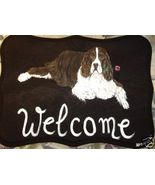 English Springer Spaniel Custom Painted Welcome... - $31.95