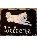 Samoyed Dog Custom Painted Welcome Sign Plaque - $31.95
