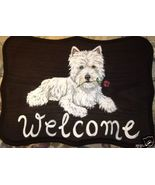 Westie Terrier Dog Custom Painted Welcome Sign ... - $35.00