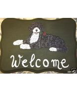 Portuguese Water Dog Custom Painted Welcome Sig... - $31.95