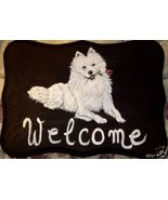 American Eskimo Dog Custom Painted Welcome Sign... - $29.95