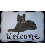 Briard Dog Custom Painted Welcome Sign Plaque - $35.00
