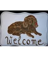 Boykin Spaniel Dog Custom Painted Welcome Sign ... - $35.00