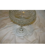 Vintage Large Cut Glass Crystal Candy/Nut Bowl - $7.50
