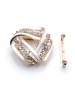 Diamond Simulants White Twist Triangle scarves ... - $15.00