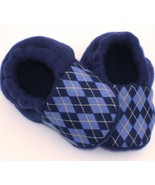 Blue Argyle Fleece Baby Booties - $9.95