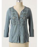 NEW Anthropologie Palacio Blouse Blue XS/-/2 20... - $39.99