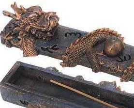 Image 2 of Dragon Incense Burner 2 Piece Plus Incense