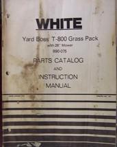 White T-800 Yard Boss Grass Pack Mower/Bagger C... - $10.00