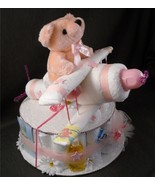 Pink AIRPLANE Baby Shower Gift Girl Diaper Cake... - $48.00