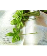 VINTAGE FABRIC MILLINERY FLOWER Fall Leaves 5 T... - $9.29